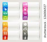 rainbow   media icons  ...   Shutterstock .eps vector #126006527