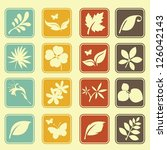natural leafs icon set | Shutterstock .eps vector #126042143