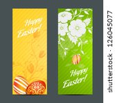easter holiday set with two... | Shutterstock .eps vector #126045077