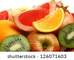 ripe fruit for a healthy feed | Shutterstock . vector #126071603