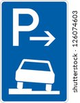 traffic sign parking | Shutterstock .eps vector #126074603