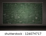Chalkboard With Hand Drawings...