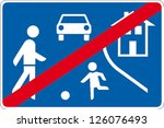 traffic sign traffic calming... | Shutterstock .eps vector #126076493