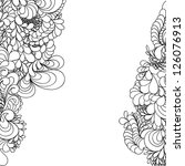 abstract hand drawn pattern ... | Shutterstock . vector #126076913
