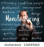 business man writing... | Shutterstock . vector #126095063
