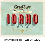 vintage touristic greeting card ... | Shutterstock .eps vector #126096203