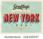 vintage touristic greeting card ... | Shutterstock .eps vector #126103247