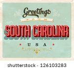 vintage touristic greeting card ... | Shutterstock .eps vector #126103283