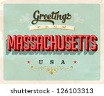 vintage touristic greeting card ... | Shutterstock .eps vector #126103313