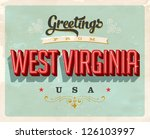 vintage touristic greeting card ... | Shutterstock .eps vector #126103997