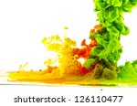 multicolored liquid mix | Shutterstock . vector #126110477