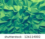 abstract trendy emerald green faceted background - stock photo