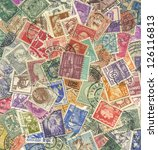 background of stamps mail of... | Shutterstock . vector #126116813