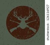 Vintage Deer Hunter Seal