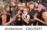 motorcycle gang robbing... | Shutterstock . vector #126129257