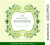 vintage card with floral...   Shutterstock .eps vector #126129923