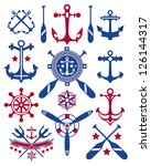 A collections of vector nautical icons.