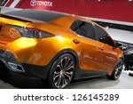 DETROIT - JANUARY 27 :The new Toyota Corolla Furia Concept at The North American International Auto Show January 27, 2013 in Detroit, Michigan. - stock photo