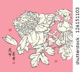chinese peony. translation  the ... | Shutterstock . vector #126151103
