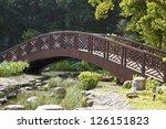 Bridge Across Stream In Green...