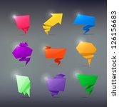 colorful abstract origami... | Shutterstock .eps vector #126156683