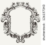 vintage high ornate original... | Shutterstock .eps vector #126157343