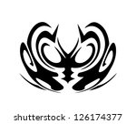 abstract  black and white... | Shutterstock . vector #126174377