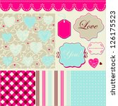 vintage cheerful pattern ... | Shutterstock .eps vector #126175523