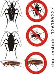 cockroach   warning signs | Shutterstock .eps vector #126189227