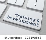 Training & Development - Button on Modern Computer Keyboard. - stock photo