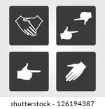 web icons  hands | Shutterstock .eps vector #126194387