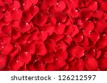 Stock photo close up red rose petal background 126212597