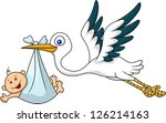 stork and baby | Shutterstock . vector #126214163