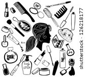 cosmetics and beauty products... | Shutterstock .eps vector #126218177