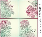 Vector Spring Cards With Flora...
