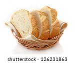 slices of white bread in basket | Shutterstock . vector #126231863
