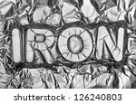 Iron sign - Iron - stock photo