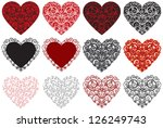 valentine hearts a collection... | Shutterstock .eps vector #126249743