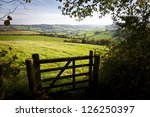 View Of A Farm Gate Leading...