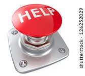 Red HELP button. - stock photo