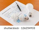 energy efficient and... | Shutterstock . vector #126254933