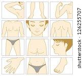 man body parts   Shutterstock .eps vector #126255707