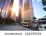 Brisbane city buildings - stock photo