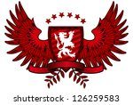 red lion shield | Shutterstock .eps vector #126259583