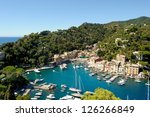 Portofino town in Italy - stock photo