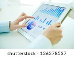 business person analyzing... | Shutterstock . vector #126278537