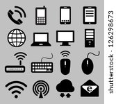 icon set of mobile devices  ... | Shutterstock .eps vector #126298673