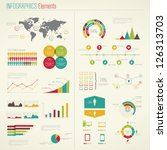 infographics elements. vector... | Shutterstock .eps vector #126313703