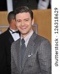 Justin Timberlake at the 19th Annual Screen Actors Guild Awards at the Shrine Auditorium, Los Angeles. January 27, 2013  Los Angeles, CA Picture: Paul Smith - stock photo
