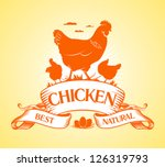 best chicken design template. | Shutterstock .eps vector #126319793